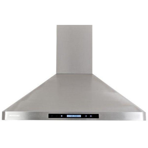 Xtreme Air USA PX02-W30 PRO-X Series LED Lights, Baffle Filters W/ Grease Drain Tunnel Non-Magnetic Wall Mount Range Hood Seamless Body In Stainless Steel - The Hardware Supply