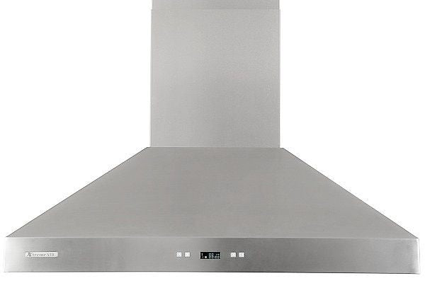 Xtreme Air USA PX03-W36 PRO-X Series LED Lights, Baffle Filters W/ Grease Drain Tunnel Non-Magnetic Wall Mount Range Hood Seamless Body In Stainless Steel - The Hardware Supply