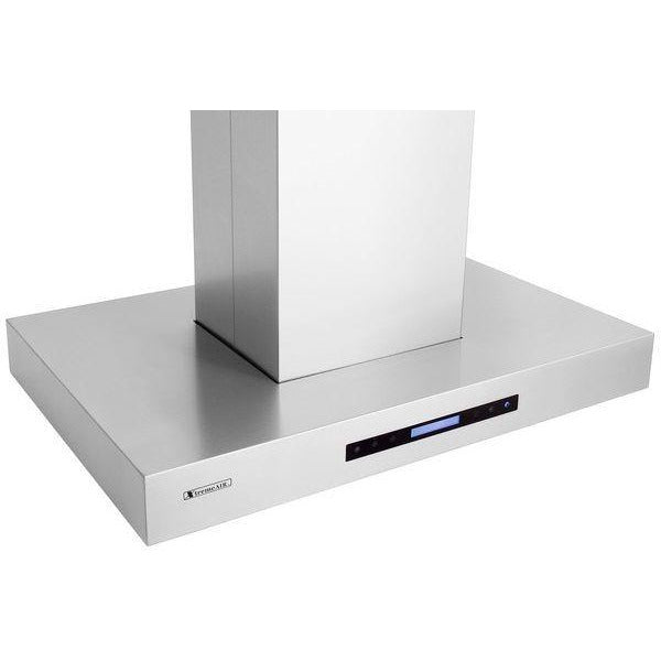 Xtreme Air USA PX06-I36 PRO-X Series Easy Clean Awing-Able Baffle Filters Island Mount Range Hood In Stainless Steel - The Hardware Supply