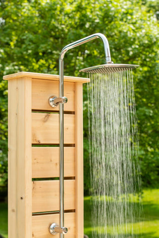 Dundalk White Cedar Outdoor Sierra Pillar Shower CTC105 - The Hardware Supply