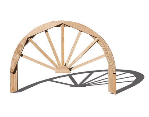 "Creekvine Designs Treated Pine 36"" Half Wagon Wheel FWHW36CVD"