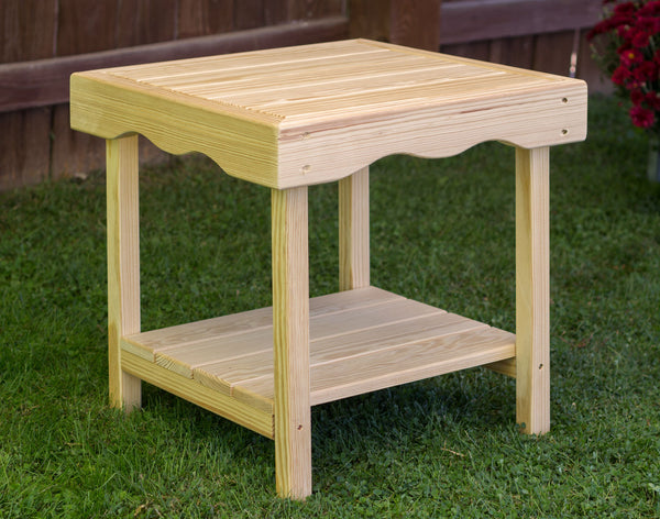 Creekvine Designs Treated Pine Rectangular End Table FCT1721CVD