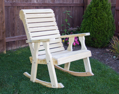 Creekvine Designs Treated Pine Rollback Rocking Chair FR24RBCVD