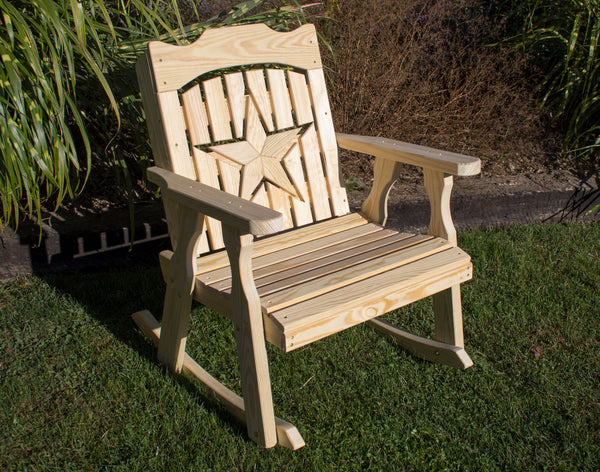 Creekvine Designs Treated Pine Starback Rocker FR24STARCVD