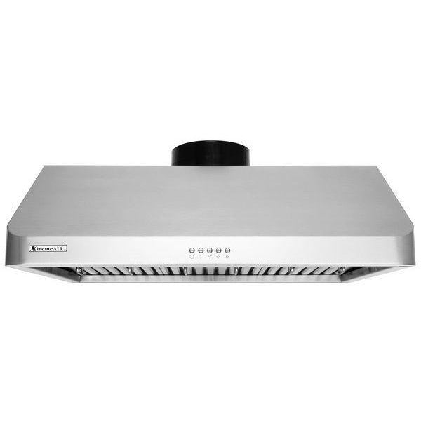 Xtreme Air USA UL10-U42 Ultra Series Baffle Filters With 3-Speed Mechanical Buttons Full Seamless Non-Magnetic Under Cabinet Hood In Stainless Steel - The Hardware Supply