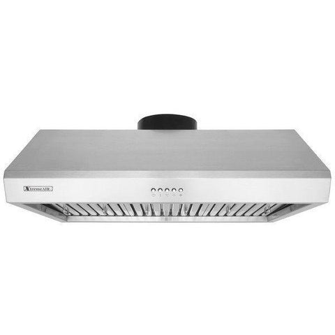 Xtreme Air USA UL13-U42 Ultra Series Baffle Filters With 3-Speed Mechanical Buttons Full Seamless Non-Magnetic Under Cabinet Hood In Stainless Steel - The Hardware Supply