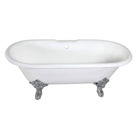 Aqua Eden 72″ Cast Iron Double Ended Clawfoot Tub-VCT7DE7232NL1 - The Hardware Supply
