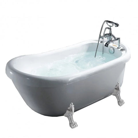 Mesa Malibu Freestanding Whirlpool Clawfoot Tub BT-062 - The Hardware Supply