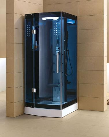 "Mesa Blue Glass Steam Shower 36"" x 36"" x 85"" WS-301A - The Hardware Supply"