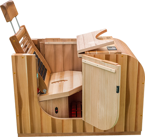 Health Mate 1 Person Essential Lounge Infrared Sauna HML-ASB-1-RC - The Hardware Supply