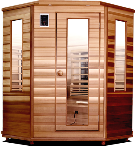 Health Mate Enrich Corner Infrared Sauna HM-ASE-C3-CD-CL - The Hardware Supply