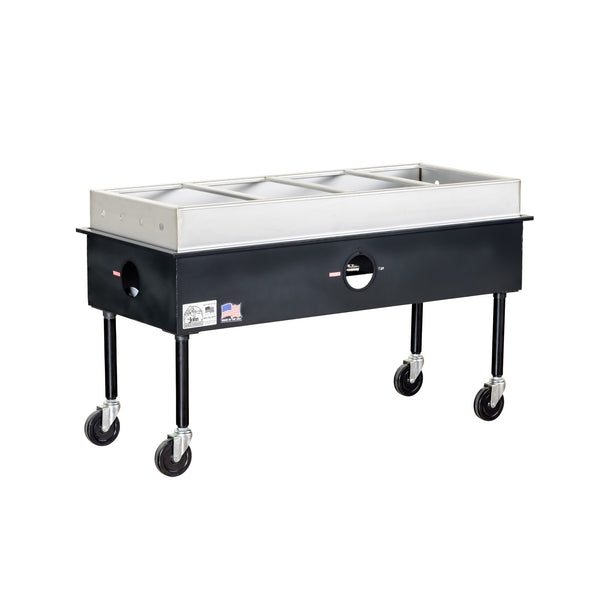 Big John ST-4 Four Bay Gas Steam Table 300601 - The Hardware Supply