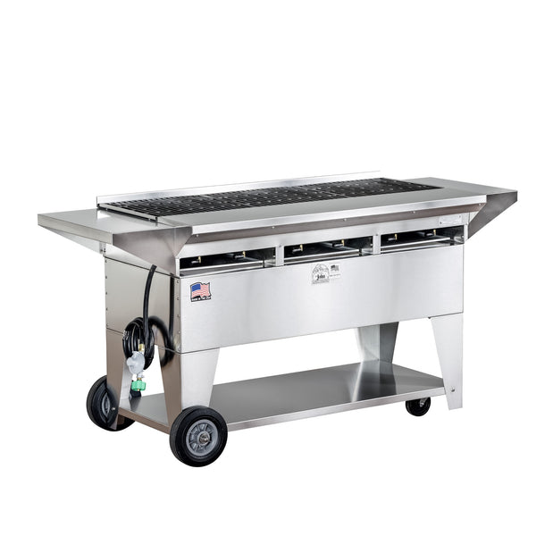 Big John A3 Stainless Steel Elite Gas Grill with Cast Iron Grates 300135-LPCI - The Hardware Supply