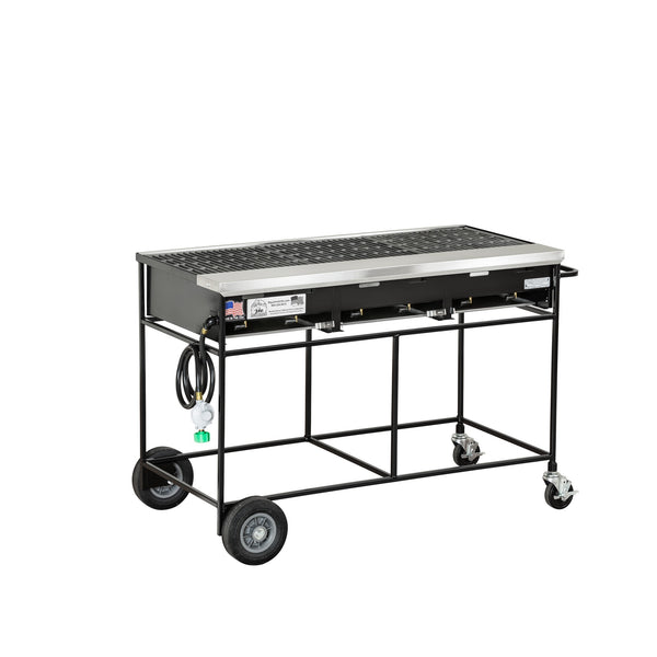 Big John A3CC Country Club Gas Grill with Cast Iron Grates 300131-LPCI - The Hardware Supply