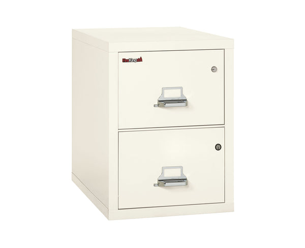 FireKing Ivory White 2 Drawer Fireproof Safe-In-A-File Cabinet  2-2131-CIWSF