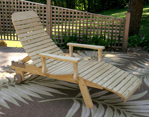 Creekvine Designs Treated Pine Chaise Lounge w/Arms FCHLOCVD