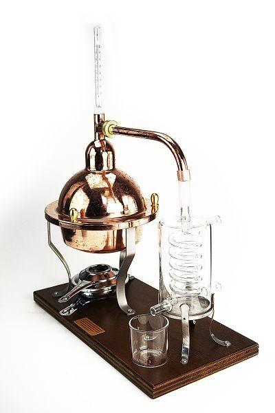 Copper Bar Still 1Lt with glass Condenser and Thermometer