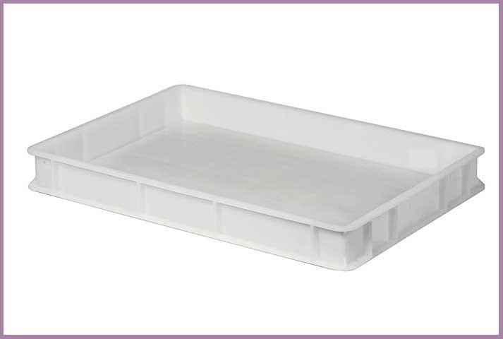 Crate 12 Litre Plastic Full Bottom & Sides 60x40x7cm