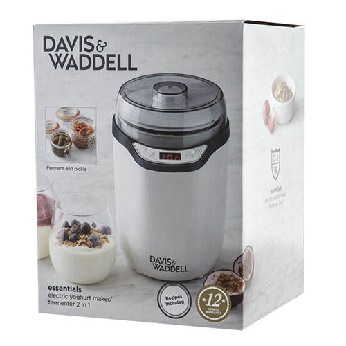 Davis & Waddell 2 in 1 Electric Yoghurt Maker/ Fermenter