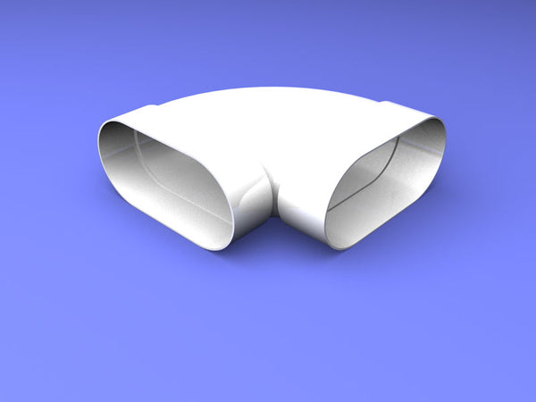 115 x 60 mm Oval Duct 90 degree bend