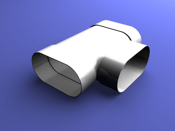 115 x 60 mm Oval Duct Tee