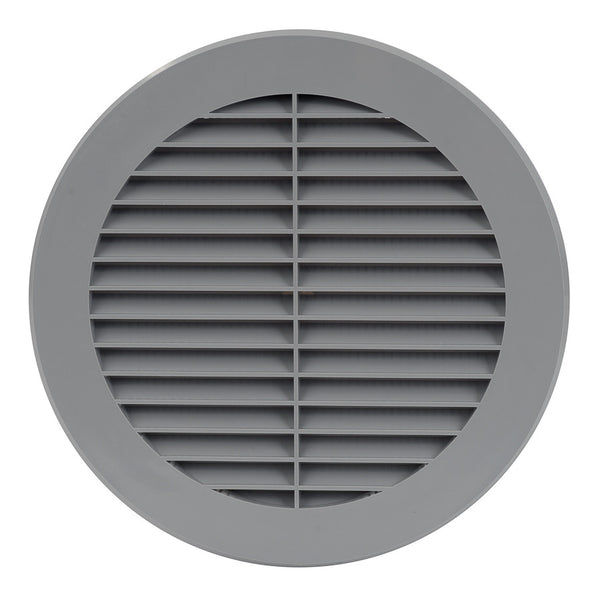 150mm External Grey Wall Grille