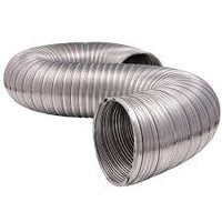 100mm semi rigid aluminium ducting - length 2 metre