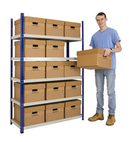 1 x Bay of Quick Click Shelving 1800mm High x 900mm Wide x 600mm