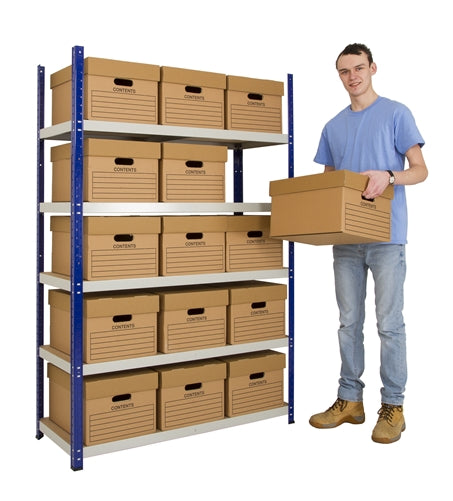 1 x Bay of Quick Click Shelving 1800mm High x 900mm Wide x 450mm