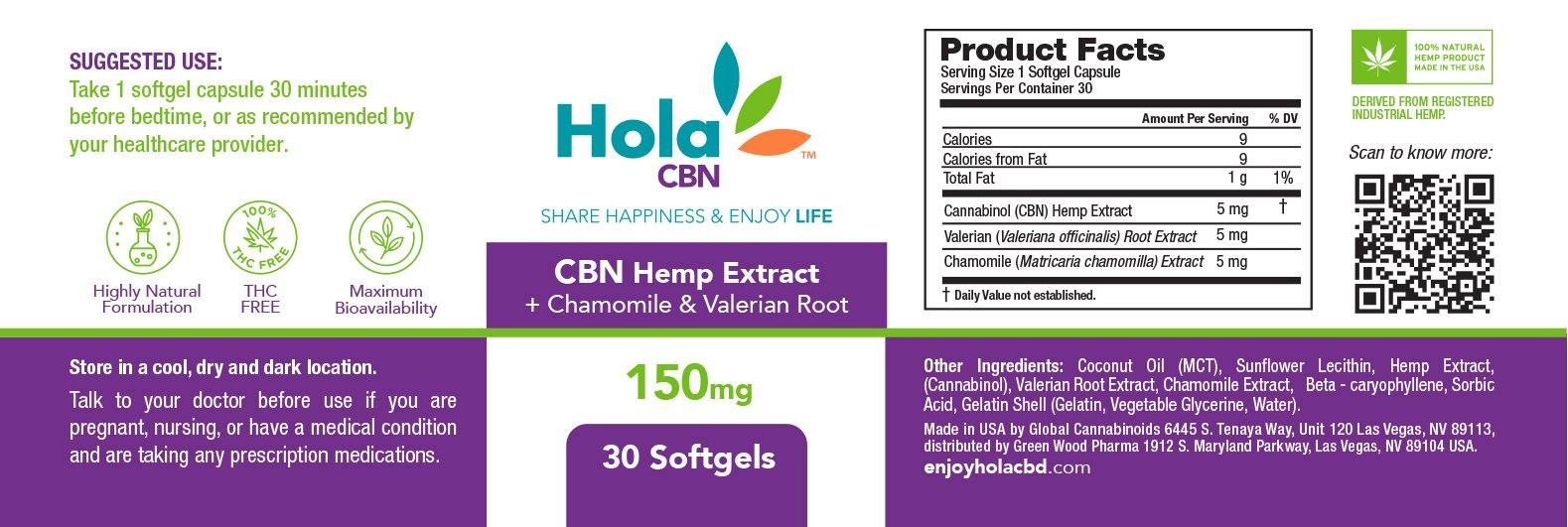 CBN + Valerian Root & Chamomile Extract