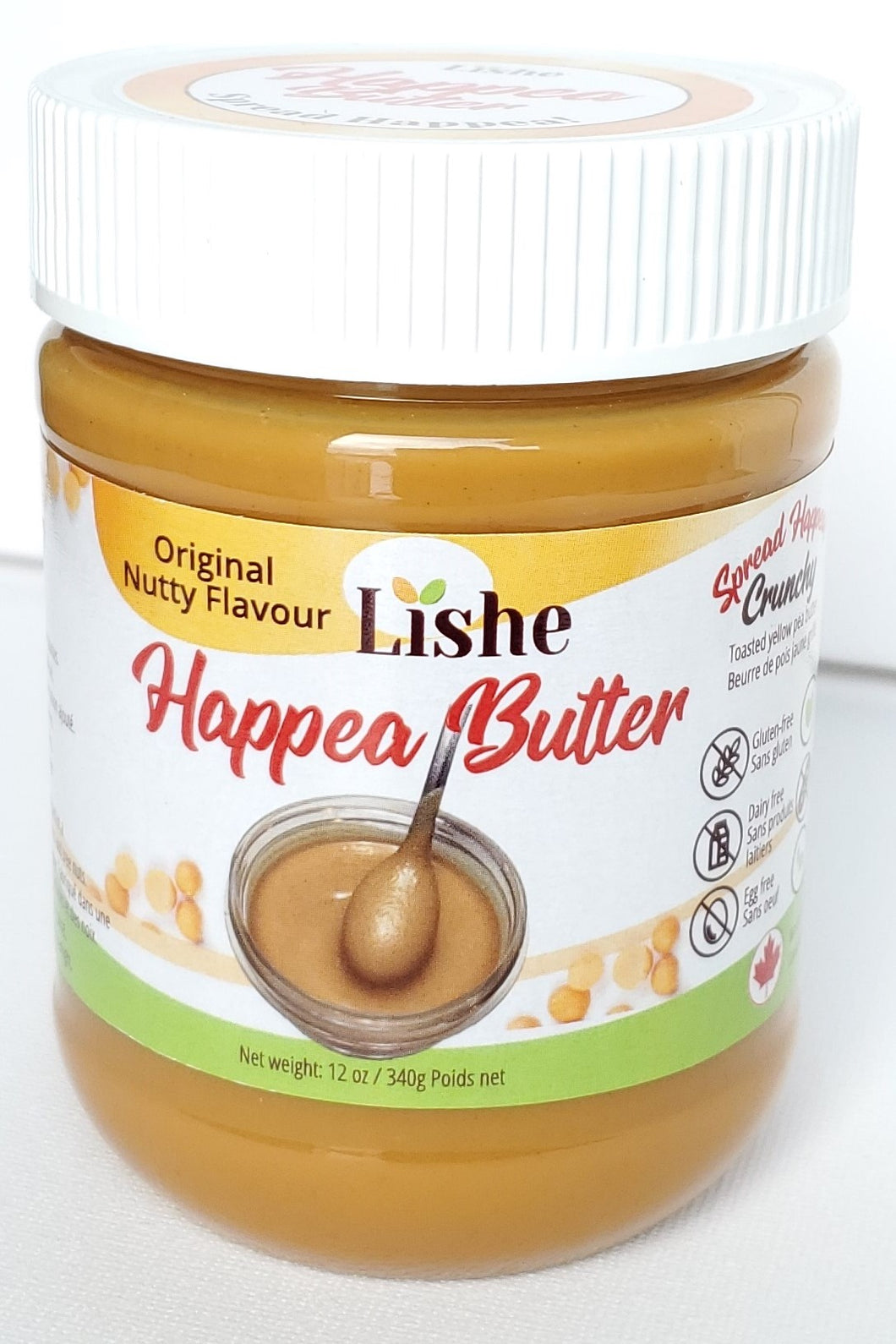 12 Jars - Happea Butter - Sweet Pea Vegan Crunchy Flavour