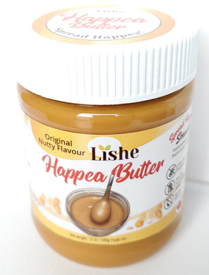 Happea Butter -  Sweet Pea Smooth Original Flavour - 1 Jar 340g