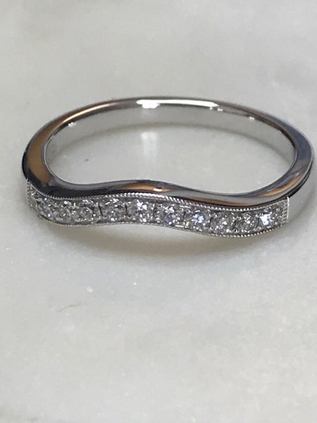 18ct Diamond Curved Ring .21ct