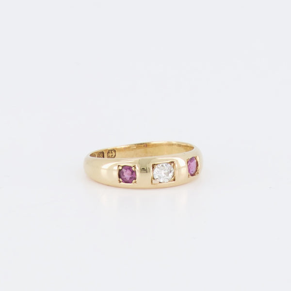 18ct Ruby Diamond Antique Gypsy Ring