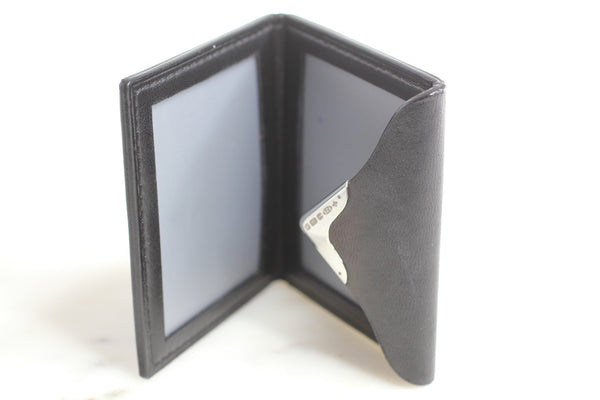 Vintage Asprey Sterling and Leather photo holder