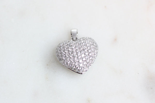 Pave Heart Pendant 0.67ct
