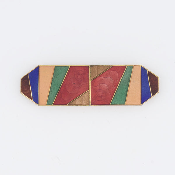 Art Deco Enamel Buckle