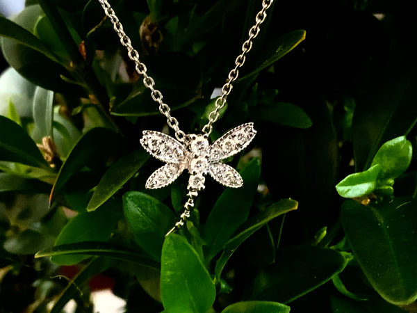Diamond Dragon fly pendant