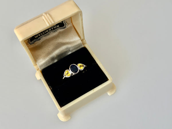 Yellow Sapphire ring set in 18ct gold