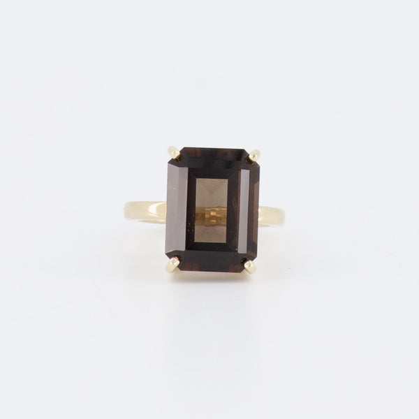 18ct Smokey Quartz Ring