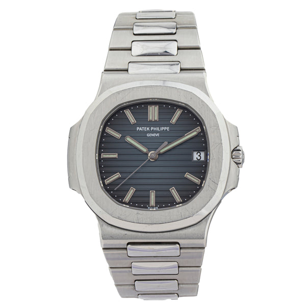 PATEK PHILLIPE NAUTILUS 5711/A1 . Brand Patek Phillipe Model Nautilus Model Number 5711/A1 Gender Mens/Unisex Movement Automatic 324 S C Case Size 38mm Wrist Size 8.50 inches Case Material Stainless Steel Bezel Stainless Steel Crystal Sapphire Bracelet Stainless Steel Dial Color Blue Condition Good (Never Polished) Approximate Age 2000s and up Box Yes Paper No Warranty Comes with one year SLW warranty Notes ENTER Notes