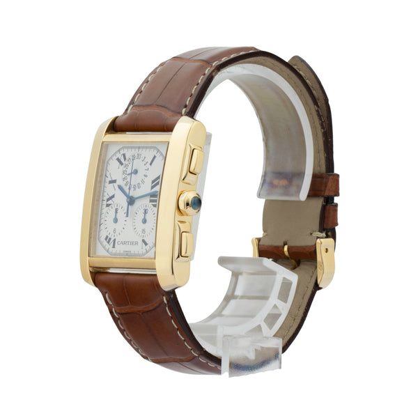 CARTIER TANK SOLO FRANCAISE MEDIUM 1830 18KT YELLOW GOLD