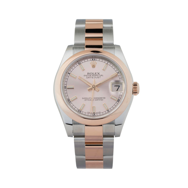 ROLEX DATEJUST 31 178241 TWO-TONE ROSE GOLD