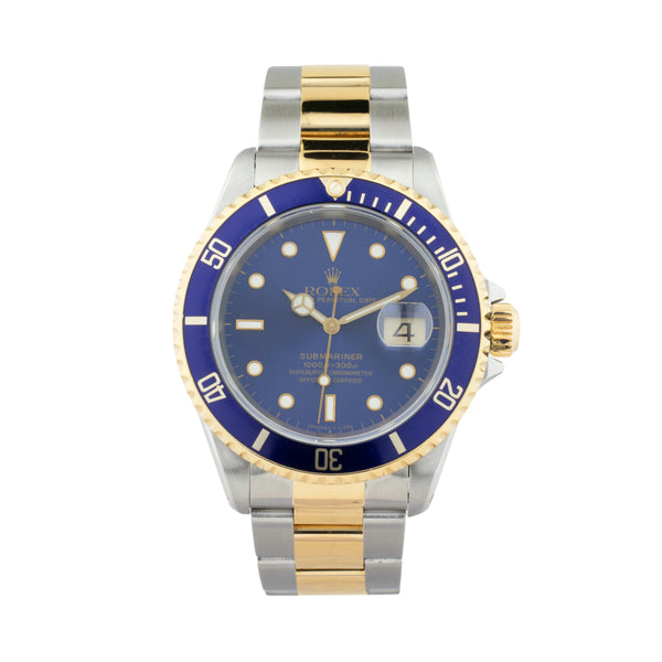 ROLEX SUBMARINER DATE 16613 TWO-TONE