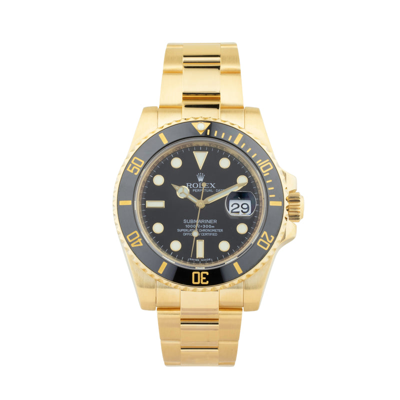 ROLEX SUBMARINER DATE 40 116618LN 18KT YELLOW GOLD
