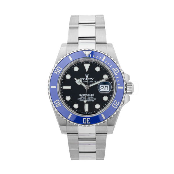 ROLEX SUBMARINER DATE 40 126619GLB 18KT WHITE GOLD