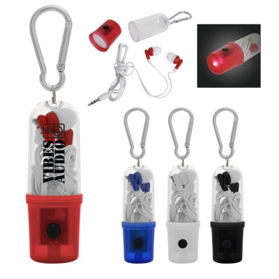 Earbuds with Flashlight Case (7720)