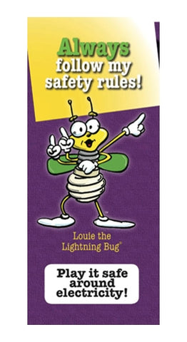 CFL Louie Safety Book Marks, NO LOGO - pack of 250 (4140)