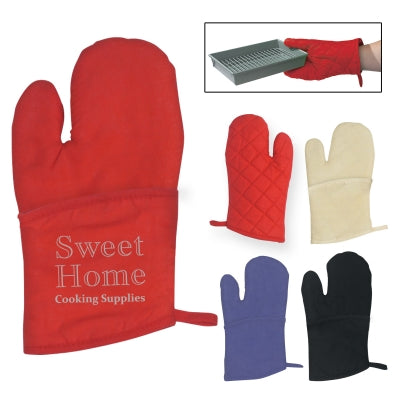 Quilted Cotton Canvas Oven Mitt (6810)