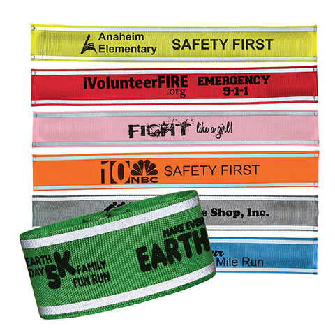 Reflective Nylon Slap Wristband (7330)